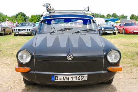 tl: Car Volkswagen 1600 TL,  The oldtimer show  in MAFZ, May 26, 2012 in Paaren im Glien, Germany