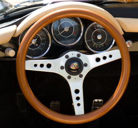 Cab car Porsche 356 Speedstep,  The oldtimer show  in MAFZ, May 26, 2012 in Paaren im Glien, Germany