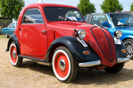 The Fiat 500 Topolino,  The oldtimer show  in MAFZ, May 26, 2012 in Paaren im Glien, Germany