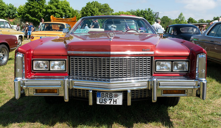 eldorado: PAAREN IM GLIEN, GERMANY - MAY 19: Full-size personal luxury car Cadillac Eldorado (Eighth generation), The oldtimer show in MAFZ, May 19, 2013 in Paaren im Glien, Germany