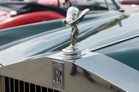 �xtasis: BERLIN - 11 de mayo: El emblema de Rolls-Royce, el Esp�ritu del �xtasis, 26 Oldtimer-Tage Berlin-Brandenburg, 11 de mayo 2013 en Berl�n, Alemania