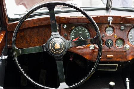 tage: BERLIN - MAY 11: Cab sports car Jaguar XK140, 26th Oldtimer-Tage Berlin-Brandenburg, May 11, 2013 Berlin, Germany Editorial
