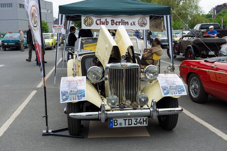 midget: BERLIN - MAY 11  Roadster 1951 MG TD Midget, 26th Oldtimer-Tage Berlin-Brandenburg, May 11, 2013 Berlin, Germany Editorial