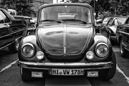 BERLIN - MAY 11  Car Volkswagen Beetle  Black and White , 26th Oldtimer-Tage Berlin-Brandenburg, May 11, 2013 Berlin, Germany