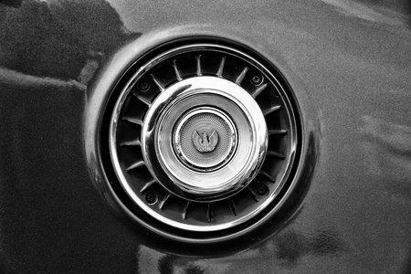 vents: BERLIN - MAY 11: Air vents in soachwork car Mazda 929 (RX-4) Hardtop (black and white), 26th Oldtimer-Tage Berlin-Brandenburg, May 11, 2013 Berlin, Germany