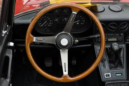 2 0: BERLIN - MAY 11  Cab sports car Alfa Romeo Spider 2 0, 26th Oldtimer-Tage Berlin-Brandenburg, May 11, 2013 Berlin, Germany