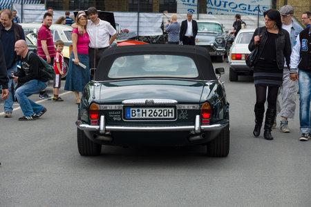 daimler: BERLIN - MAY 11  Luxury car Daimler Double-Six  Jaguar XJ , a rear view, 26th Oldtimer-Tage Berlin-Brandenburg, May 11, 2013 Berlin, Germany