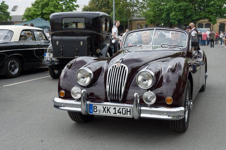 tage: BERLIN - MAY 11: A roadster Jaguar XK140, 26th Oldtimer-Tage Berlin-Brandenburg, May 11, 2013 Berlin, Germany