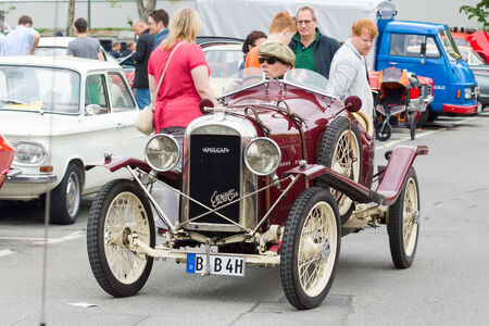 sidecar: BERLIN - MAY 11: French retro car Amilcar (Ecurie SideCar), 26th Oldtimer-Tage Berlin-Brandenburg, May 11, 2013 Berlin, Germany