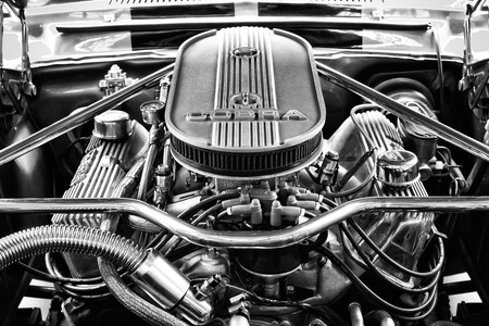 tage: BERLIN - MAY 11: Engine Ford Shelby Mustang GT500 Eleanor (black and white), 26th Oldtimer-Tage Berlin-Brandenburg, May 11, 2013 Berlin, Germany