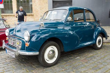 morris: BERLIN - MAY 11: British economy car Morris Minor 1000, 26th Oldtimer-Tage Berlin-Brandenburg, May 11, 2013 Berlin, Germany