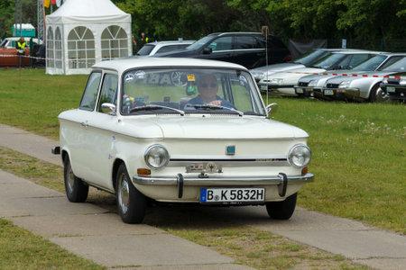 PAAREN IM GLIEN, GERMANY - MAY 19: Two-door sedan NSU Prinz 4, The oldtimer show in MAFZ, May 19, 2013 in Paaren im Glien, Germany