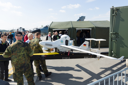 BERLIN - SEPTEMBER 14: An unmanned aerial vehicle EMT Luna X-2000, International Aerospace Exhibition ILA Berlin Air Show, September 14, 2012 in Berlin, Germany
