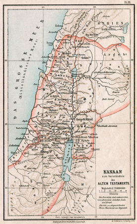 Map of Israel and Palestine  The Bible  The Old Testament  Germany, circa 1895