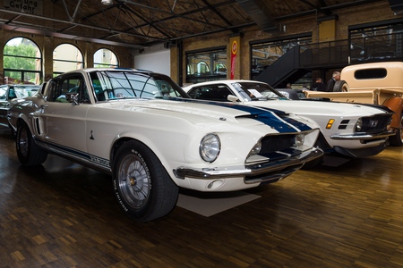 BERLIN, GERMANY - MAY 17, 2014: Shelby Mustang GT350 fastback (1967) - is a high-performance version of the Ford Mustang. 27th Oldtimer Day Berlin - Brandenburg  Editorial