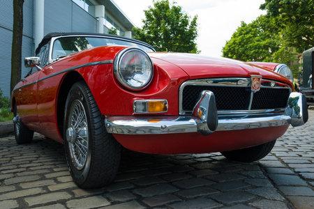 BERLIN, GERMANY - MAY 17, 2014: A sports car MG MGB 1800 convertible. 27th Oldtimer Day Berlin - Brandenburg