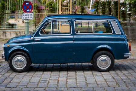BERLIN, GERMANY - MAY 17, 2014: City car Fiat 500 K Giardiniera. 27th Oldtimer Day Berlin - Brandenburg