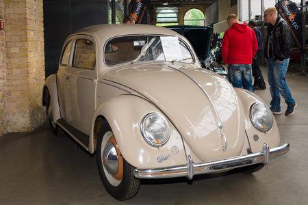 BERLIN, GERMANY - MAY 17, 2014: Subcompact Volkswagen Beetle, Typ 11a, Export (Brezelkaefers). 27th Oldtimer Day Berlin - Brandenburg