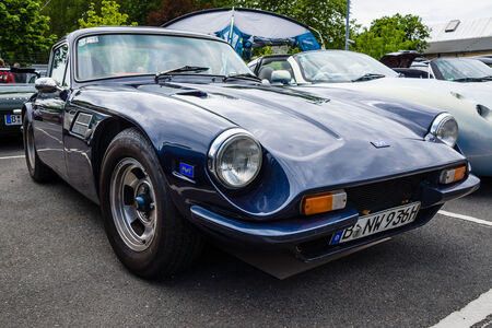 twoseater: BERLIN, GERMANY - MAY 17, 2014: A two-seater convertible sports car TVR 3000M. 27th Oldtimer Day Berlin - Brandenburg
