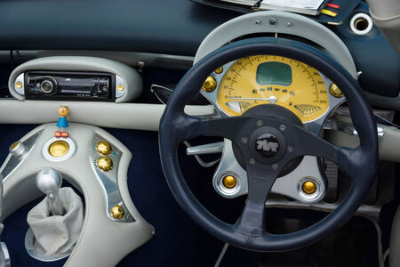BERLIN, GERMANY - MAY 17, 2014: Cab of a sports car TVR Tuscan Speed 6. 27th Oldtimer Day Berlin - Brandenburg