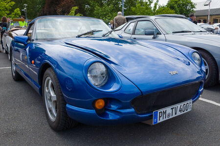 twoseater: BERLIN, GERMANY - MAY 17, 2014: A two-seater convertible sports car TVR Chimaera. 27th Oldtimer Day Berlin - Brandenburg