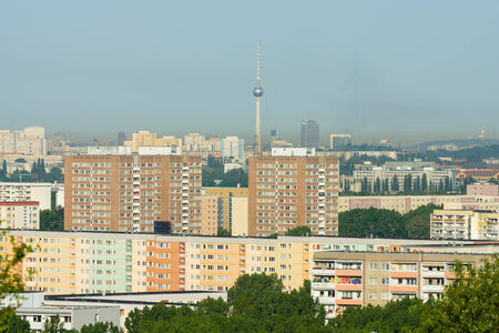 marzahn: BERLIN, GERMANY - JUNE 06, 2014: Sleeping quarters of Berlin. District Ahrensfelde.