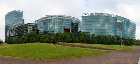 sony: BERLIN, GERMANY - JUNE 06, 2014: Sony Center at Potsdamer Platz. Berlin. Germany. Panorama. Modern office and shopping and entertainment complex.