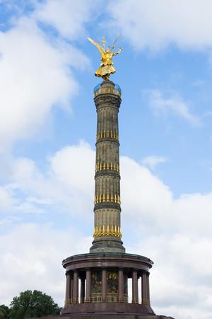 winning location: Berlin Victory Column. Germany Stock Photo