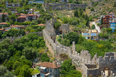 Alanya: Apartment houses on the hillside. Alanya. Turkey.