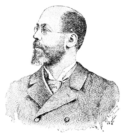 pseudonym: Portrait of an Austrian journalist, writer and sports functionary, Balduin Groller. Publication of the book A Century in the text and pictures, Berlin, Germany, 1899