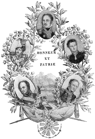 napoleon i: Portraits of the generals of Emperor Napoleon I. Publication of the book A Century in the text and pictures, Berlin, Germany, 1899