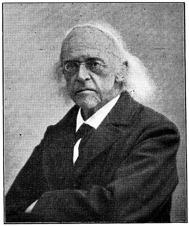 theodor: Portrait of a German classical scholar, historian, jurist, journalist, politician, archaeologist, Theodor Mommsen. Publication of the book A Century in the text and pictures, Berlin, Germany, 1899