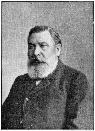 nationalist: Portrait of a nationalist German historian, political writer, Heinrich Gotthard von Treitschke. Publication of the book A Century in the text and pictures, Berlin, Germany, 1899