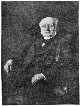 ludwig: Portrait of a German politician and leader of the Catholic Centre Party, Ludwig Windthorst. Publication of the book A Century in the text and pictures, Berlin, Germany, 1899