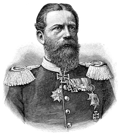Portrait of Frederick III, German Emperor. Publication of the book A Century in the text and pictures, Berlin, Germany, 1899
