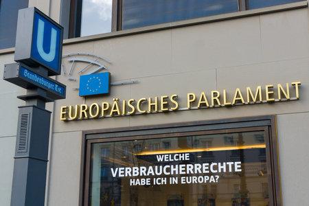 parlamentario: BERL�N - 31 de octubre 2014: El Parlamento Europeo es la instituci�n parlamentaria de elecci�n directa de la Uni�n Europea (UE) Editorial