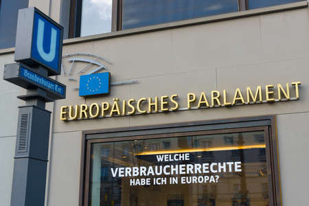 parliamentary: BERLIN - OCTOBER 31, 2014: The European Parliament is the directly elected parliamentary institution of the European Union (EU) Editorial