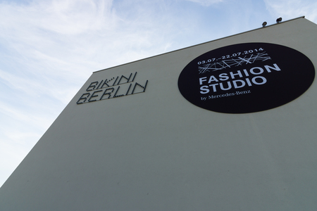 garten: BERLIN - JULY 18, 2014: Bikini-Haus. New shopping center in West Berlin, opened in 2014.