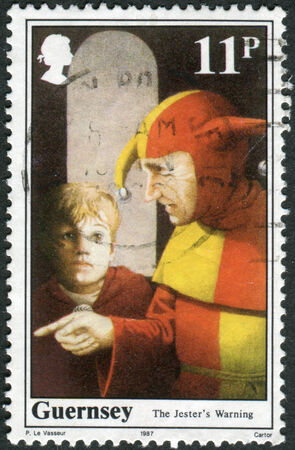 conqueror: UNITED KINGDOM - CIRCA 1987: Postage stamp printed in UK (Guernsey), shows William the Conqueror, King of England, circa 1987 Editorial