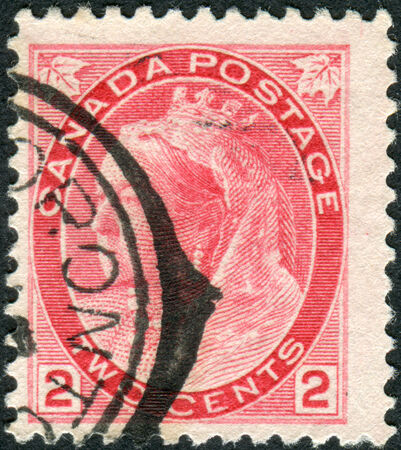 canada stamp: CANADA - CIRCA 1900: Postage stamp printed in Canada, a portrait of Queen Victoria, circa 1900 Editorial