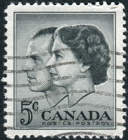 canada stamp: CANADA - CIRCA 1957: Postage stamp printed in Canada, dedicated to the Visit of Queen Elizabeth II and Prince Philip to Canada, circa 1957