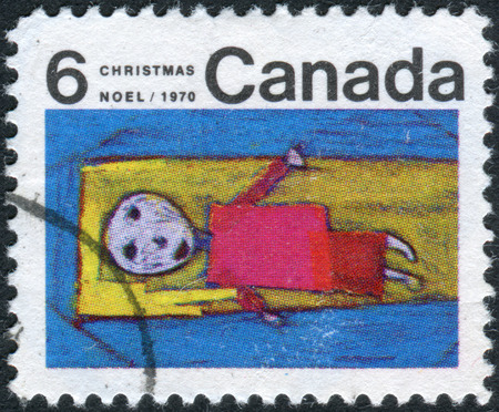 canada stamp: CANADA - CIRCA 1970: Postage stamp printed in Canada, Christmas issue, shows Christ Child, circa 1970
