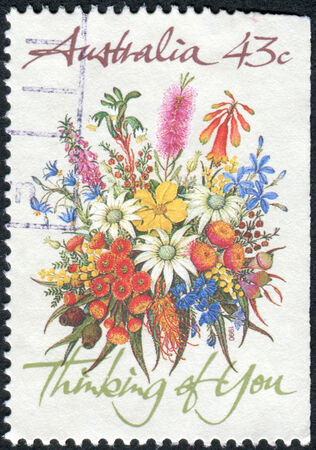 thinking of you: AUSTRALIA - CIRCA 1990: Postage stamp printed in Australia shows Special Occasions and the inscription Thinking of You, circa 1990 Editorial