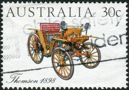 australia stamp: AUSTRALIA - CIRCA 1984: Postage stamp printed in Australia, shows Australian-made vintage cars: Thomson, 1898, circa 1984