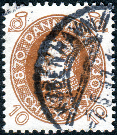 DENMARK - CIRCA 1930: A stamp printed in Denmark, dedicated to the 60th anniversary of the King of Denmark Christian X, circa 1930