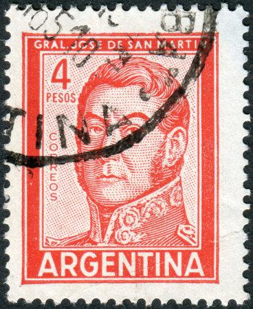 jose de san martin: ARGENTINA - CIRCA 1962: A stamp printed in the Argentina, shows a national hero, Jose de San Martin, circa 1962