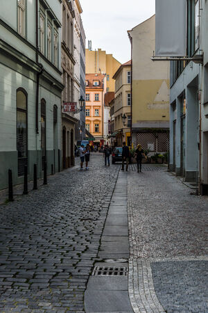 largest: PRAGUE, CZECH REPUBLIC - SEPTEMBER 18, 2014: Street and everyday life of the city. Prague is the capital and largest city of the Czech Republic.