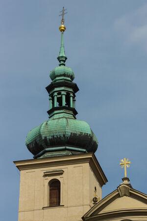 gall: Belfry Church of Saint Gall. Prague. Stock Photo