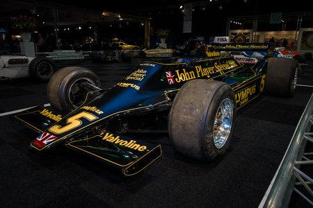 MAASTRICHT, NEDERLAND - 8 januari 2015: Formula One auto Lotus 79, in het najaar van 1977 ontworpen door Colin Chapman. International Exhibition InterClassics & Topmobiel 2015