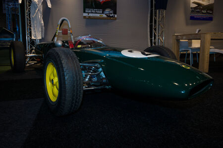 formula one car: MAASTRICHT, NETHERLANDS - JANUARY 08, 2015: Formula One car Lotus 43, designed by Colin Chapman, 1966. International Exhibition InterClassics & Topmobiel 2015